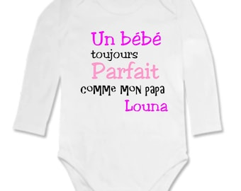 Baby Bodysuit always perfect, personalized with name