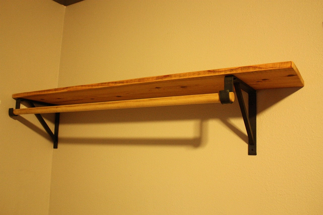 Forged Closet Rod Support Brackets.