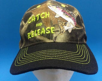 Vintage Catch And Release Adjustable Strapback Hat
