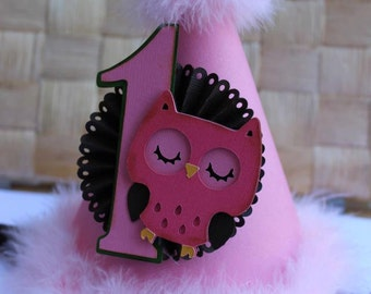 Owl Party Hat - Number 1 Party Hat