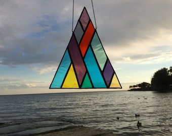Stained Glass Triangle waves