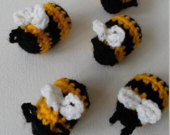 Crochet Bumble bees