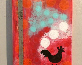 Chickaan: Abstract Acrylic Paint on 8x10 canvas