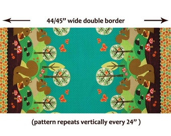 Norwegian Woods Nuts for Dinner Double Border - Michael Miller - 1 yard - More Available - BTY