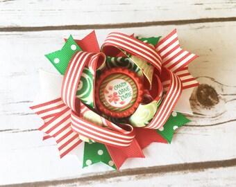 Christmas Hair Bow - Holiday Hair Bow - Christmas Hair Clip - Christmas Bow - Santa Hair Bow - Red Hair Bow - Christmas Headband - Hair Bow
