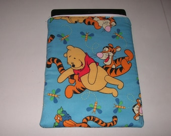Tigger ipad case etsy winnie the pooh tigger handmade zipper fabric ipad 2 3 4 air xoom galaxy acer case voltagebd Gallery