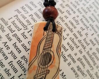 Old  Guitar illustration necklace