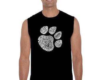 Mannen mouwloos Shirt - kat Paw Prints gemaakt uit de Word-Meow