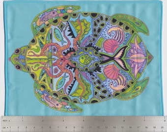 Sea Turtle, Sue Coccia, Microfiber Cleaning Cloth Wipes for Eye Glasses, Cell Phones, Sunglasses, Electronics and More!