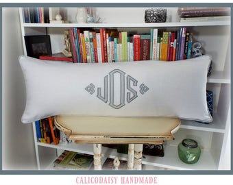 South Pointe Applique Monogram Pillow Cover - 14 x 28 lumbar