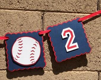 Baseball Birthday Banner. Iam 1. I am 2. Photo prop. Highchair Banner.