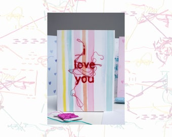 I Love you Card - Greeting Card - Valentines Card