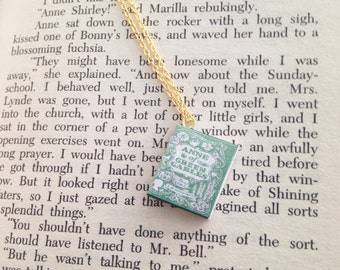 Handmade Anne Of Green Gables Miniature Book Necklace // L. M. Montgomery Book // Classic Book Necklace