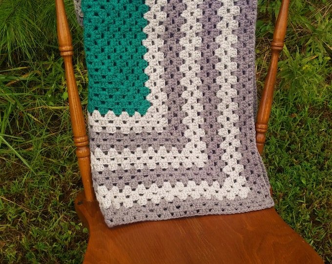 READY TO SHIP Crochet granny square baby blanket