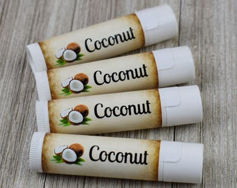 Coconut Flavored Lip Balm - Handmade All Natural Lip Balm