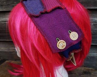 Patchwork Upcycled Sweater Headband Dreadband