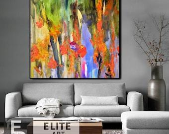 Canvas Art, Wall Art, Colorful painting, Original painting, Abstract Original art, Abstract Painting, Large Abstract art, Large abstract art