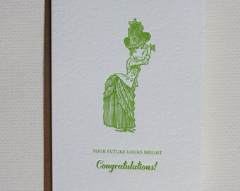 Your Future Looks Bright Congratulations! - Folded Card