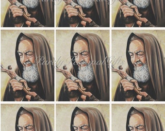 Digital Download St Padre Pio of Pietrelcina, Printable Padre Pio, Saint Pio Printables, Catholic Saint, St Padre Pio
