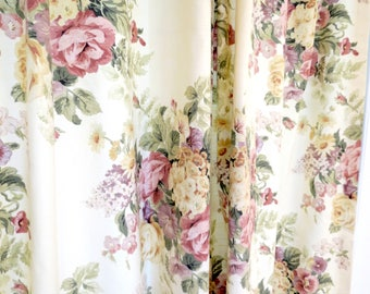 Vintage shower curtain Shabby Chic Shower curtain vintage floral french roses custom fabric shower curtain pink shower curtain cottage chic