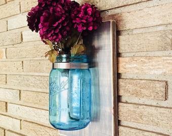 Hanging Mason Ball Jar Wall Vase