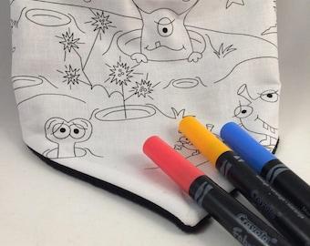 Scarf has coloring / Bandana cotton and fleece