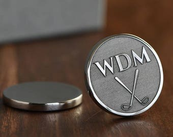 Monogram, Golf Ball Marker, Personalized Golf Ball Marker, Engraved Golf Ball Marker, Dad Gift, Golf gifts for men, ANY TEXT 40 Char!