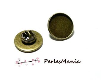 10 blank brooch PINS 25mm BRONZE