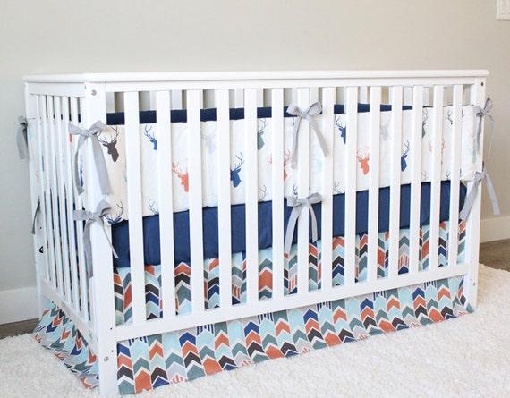 Woodlands Nursery Crib Bedding Set Baby Boy Deer Buck