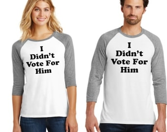 Anti-Trump I did not vote for Him Not my President Shirt
