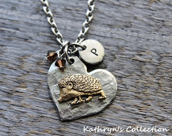 Hedgehog Necklace, Hedgehog Jewelry, Pet Hedgehog, Hedgehog Gift