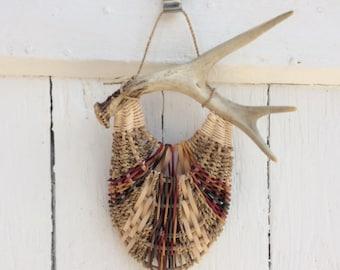 Antler Wall Pocket Basket