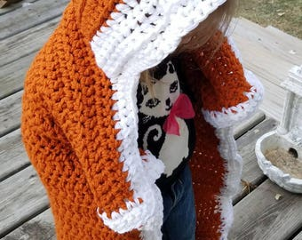 Fox Hooded Blanket - Baby/Toddler Size