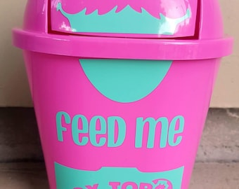 Box Top collector, Box top garbage can,cookie monster box top collector, back to school, gift for teachers,