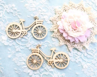 Wooden Embellishments/Laser Cut Wood Bicycles/Scrapbooking Embellishments/WE0001/Scrapbook Layout/Handmade cards,tags/Altered Box/MixedMedia