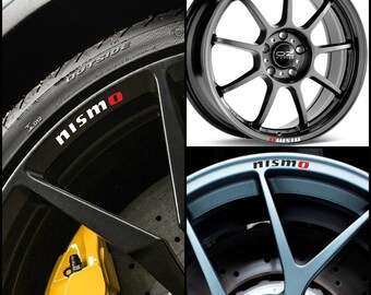 Nissan NISMO Rims Alloy Wheel Decals Stickers Curved Graphics Kit GT-R Gtr R33 R34 R35 Juke R Silvia Sx 350Z 370Z 180 200 Skyline Qashqai