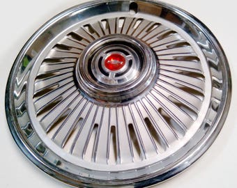 Vintage 1965 Chevy Chevelle and El Camino Hubcap Hub Cap Wheel Cover - Chevrolet Car Part Wall Hanger - Automotive Wall Decor - Classic Car