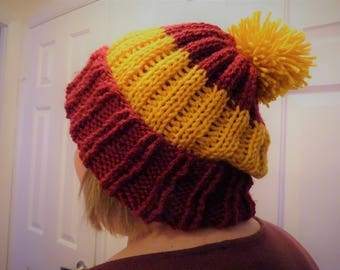 Harry Potter Hogwarts Inspired House Colors Beanie
