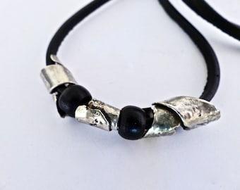 Serling silver men necklace. Sterling silver choker collar. Women silver  choker collar