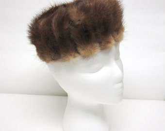Brown Fur Hat Pillbox Ladies Millinery