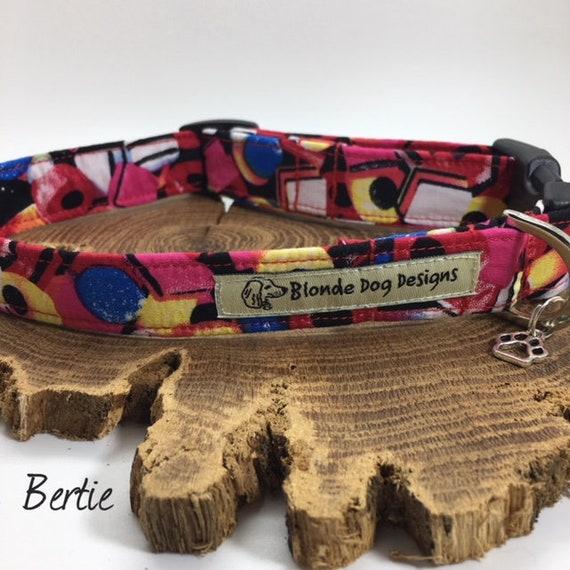 Colourful Dog Collar, Bertie, Cute Dog Collar, Fun Dog Collar, Dog Collar UK
