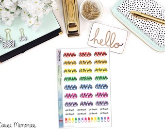 REFILL THE PILLS Paper Planner Stickers - Mini Binder Sized/3 Hole Punched