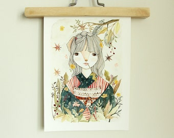 Fine Art Print | Limited Edition | Akiko | A4 | Illustration