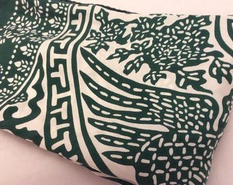 Vintage silk hand rolled scarf 50s hand printed