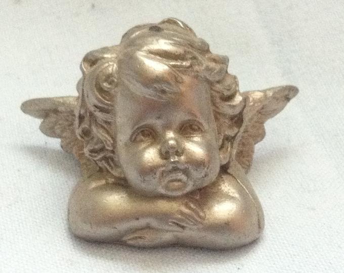 Vintage Angel Putto Metal miniature Decoration Doll Room