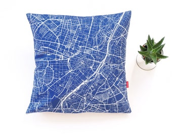 MUNICH Map, Throw pillow for your home decor,  Map of MUNICH Cushion Cover, Custom Wedding Pillow Cover, anniversary gift