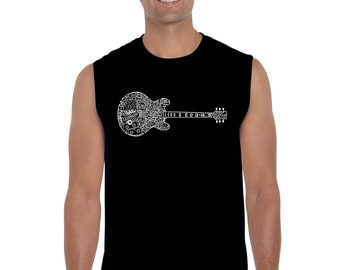 Men's Sleeveless Shirt Blues Legends Created Using the Names of Some of the Most Legendary Blues Guitarists