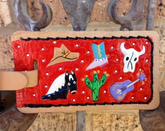 Luggage Tag with Wild West Theme