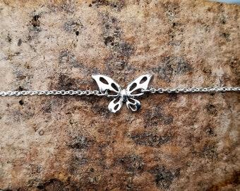Sterling Silver Butterfly Bracelet, Silver 925 Butterfly bracelet, Butterfly jewelry, Bridesmaid gifts