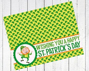 st patricks day st pattys day bag topper leprechaun dancing printable - Dancing Leprechaun St. Patrick's Day Bag Topper Printable